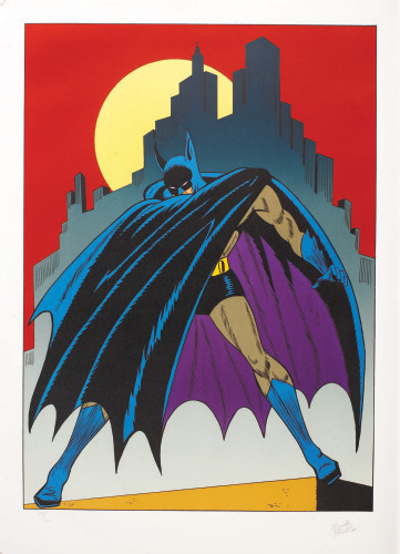 """Batman Over Gotham"" Bob Kane"