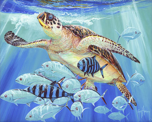 """Hawksbill Caravan""(2015), Guy Harvey, Created using dye sublimation"