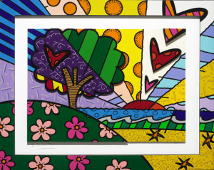 """New Horizon""(2014), Romero Britto"